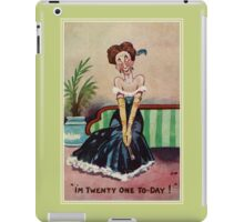 Funny vintage 21st birthday for her iPad Case/Skin