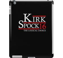 The Logical Choice Kirk Spock 16 T-Shirts iPad Case/Skin