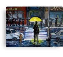 Yellow umbrella part 1 Canvas Print