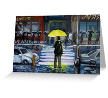 Yellow umbrella part 1 Greeting Card