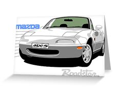 Mazda MX-5 white Greeting Card