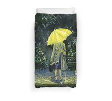 Yellow umbrella part 2 Duvet Cover