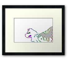 Angry Radioactive Rainbows Lines Framed Print