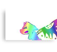 Angry Radioactive Rainbows Canvas Print