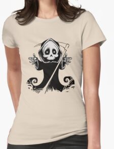Death Greetings. Womens Fitted T-Shirt