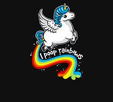 I poop rainbows Womens Fitted T-Shirt