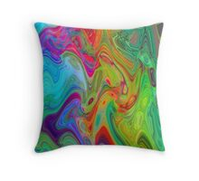 Psychedelic Line 2 Throw Pillow