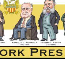 U.S. Presidents from New York State Sticker