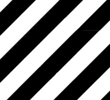 Caution Stripes Black and White Sticker