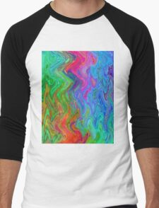 Psychedelic Line 3 Men's Baseball ¾ T-Shirt