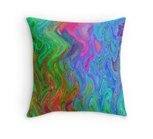 Psychedelic Line 3 Throw Pillow