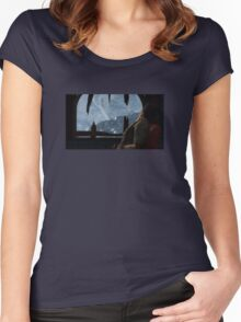 Uncharted 2 What a view Women's Fitted Scoop T-Shirt