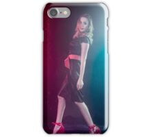 Young sexy woman in black shirt posing under water iPhone Case/Skin
