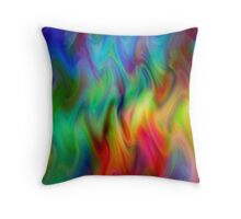 Psychedelic Line 4 Throw Pillow