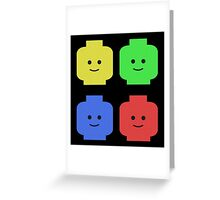 Lego Heads Greeting Card