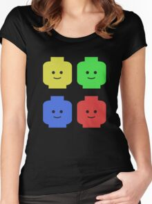 Lego Heads Women's Fitted Scoop T-Shirt