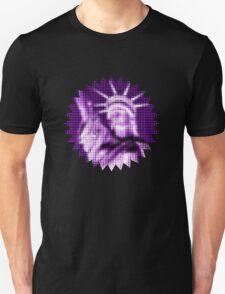 "Pixels Print ""PURPLE LIBERTY"" Unisex T-Shirt"
