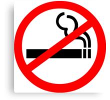 No Smoking Symbol Canvas Print