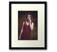 portrait of a beautiful red-haired girl Framed Print