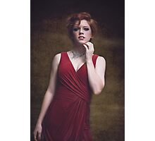 portrait of a beautiful red-haired girl Photographic Print