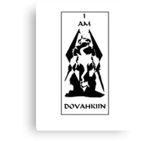 I am DOVAHKIIN Canvas Print