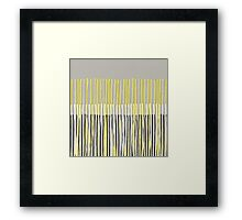 Yellow Rising - Abstract Stripes in Yellow, Grey, Black & White Framed Print