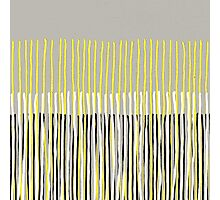 Yellow Rising - Abstract Stripes in Yellow, Grey, Black & White Photographic Print