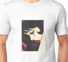 Black Curl Crying Comic Girl Unisex T-Shirt