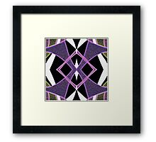 Abstract ribbon rainbow, purple, emerald green Framed Print