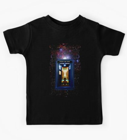Space And Time traveller Box that More Bigger on the inside Kids Tee