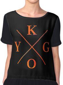 KYGO - Orange Chiffon Top