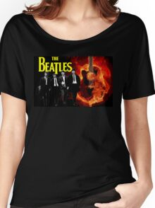 The Beatles on Fire Women's Relaxed Fit T-Shirt