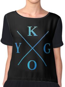 KYGO - Blue Chiffon Top