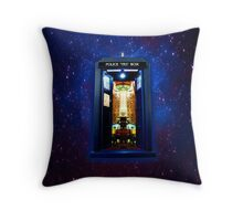 Space And Time traveller Box that More Bigger on the inside Throw Pillow