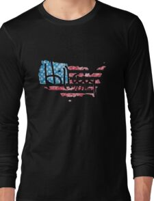 Hillary 2016 - USA Flag Long Sleeve T-Shirt