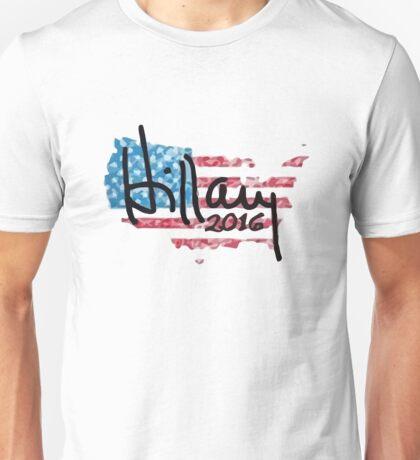 Hillary 2016 - USA Flag Unisex T-Shirt