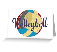 Sports Lover Cool Volleyball Shirts and Gifts Design Greeting Card