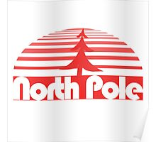 Retro North Pole Poster
