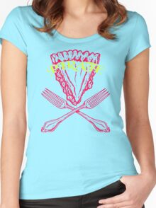 Fork And Pizza Women's Fitted Scoop T-Shirt