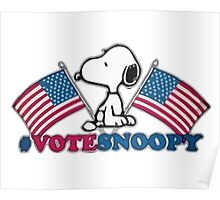 Vote Snoopy Poster