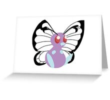 Simple Butterfree Greeting Card