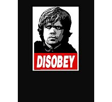 Tyrion Lannister Disobey Stencil - Obey Parody Photographic Print