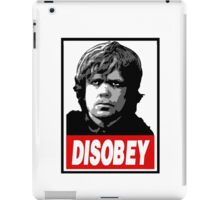 Tyrion Lannister Disobey Stencil - Obey Parody iPad Case/Skin