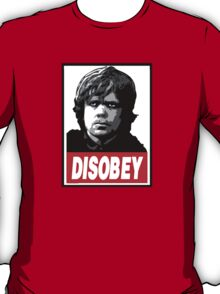Tyrion Lannister Disobey Stencil - Obey Parody T-Shirt