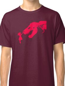 Girl With Trex Classic T-Shirt