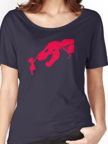Girl With Trex Women's Relaxed Fit T-Shirt
