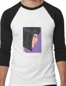 Black Bob Crying Comic Girl Men's Baseball ¾ T-Shirt