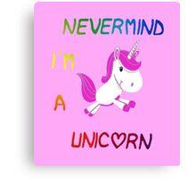 unicorn 2 Canvas Print