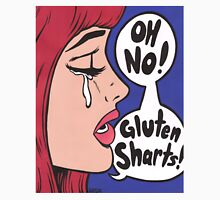 Oh No Gluten Sharts! Crying Comic Girl Unisex T-Shirt