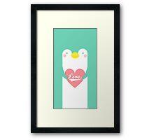 sweet penguin Framed Print